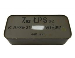 Polish 7.62x54R 147gr FMJ LPS Ammunition 440rd Spam Can - P54R