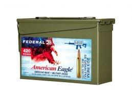 American Eagle .223 REM 55gr FMJ BT Ammo, 420rds - AE223BK420 AC1