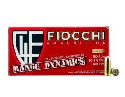 Fiocchi Range Dynamics 95GR FMJ 380 ACP Ammo, 100rd - 380ARD10