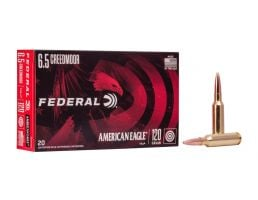 Federal American Eagle 123gr Open Tip Match 6.5 Creedmoor Ammo, 20rd - AE65CRD4