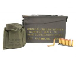 Korean Surplus .30 M1 Carbine 110GR FMJ 1080RD M2A1 Can