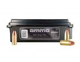 Ammo Inc TMC 115gr 9mm Remanufactured Ammo, 200rd Can - 9115TMC-RB200
