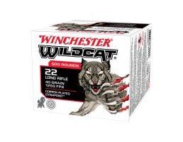 Winchester Wildcat 40GR CP Dyanpoint 22LR Ammo, 500rd - WW22LRB