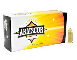 Armscor Precision 124gr FMJ 9mm Ammo, 50rds - 50041