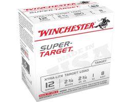 """Winchester Super Target Xtra-Lite Target Load 12 Gauge 2-3/4"""" 8 Shot 1 oz Shotshell, 100/Box - TRGTL128VP"""