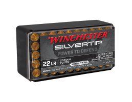 Winchester Silvertip .22lr 37 gr Segmenting HP Ammo, 50/Box - W22LRST