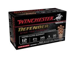 "Winchester Defender 12 Gauge 2-3/4"" 00 Buck Shot Shotshell, 10/Box - SB1200PD"