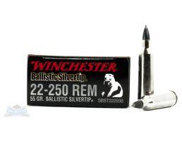 Winchester 22-250 Ammo Ballistics Silvertip Rifle Ammunition 20rds - SBST22250B
