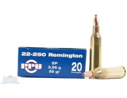 PRVI Partizan 22-250 55gr SP Ammunition 20rds - PP2.4