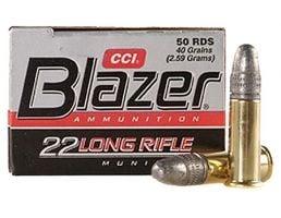 CCI Blazer .22 Long Rifle 40gr LRN Ammunition 50rds - 0021