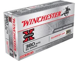 Winchester 380 Auto/ACP 85gr SilverTip Hollow Point Ammunition 50rds - X380ASHP