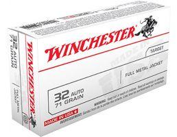 Winchester USA 32 Auto/ACP 71gr FMJ Ammunition 50rds - Q4255