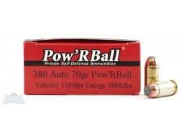 Glaser Pow'rBall 380 Auto/ACP 70gr Ammunition 20rds - pb38070/20