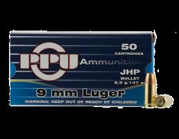 PRVI Partizan 9mm Luger 147gr JHP 50 Rounds Ammunition - PP-R9.7