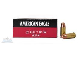 American Eagle 32 Auto/ACP 71gr FMJ Ammunition 50rds - AE32AP