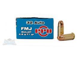 PRVI Partizan 32 Auto/ACP 71gr FMJ Ammunition 50rds - PP-R3.1