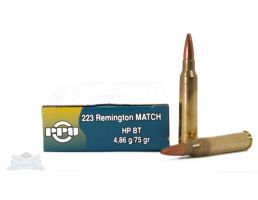 PRVI Partizan 223 75gr Match HPBT Ammunition 20rds - PP5.4