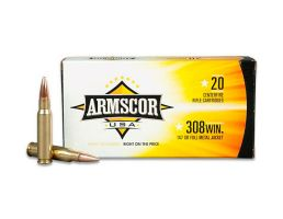 Armscor 147 gr Full Metal Jacket .308 Win/7.62 Ammo, 20/box - FAC3081N