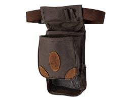 Browning Lona Deluxe Shell Pouch, Large, 6-Compartment, Flint/Brown - 121388693