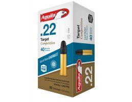 Aguila Match .22 LR 40 gr Lead Solid Point  Ammo, 50/box - 1B222514