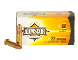 Armscor 40 gr Standard Velocity Soft Point .22lr Ammo, 50/box - 50012PH
