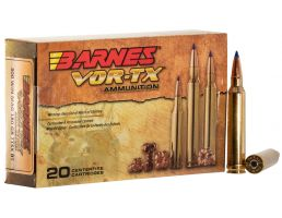 Barnes Bullets VOR-TX 180 gr Tipped TSX Boat Tail .300 Win Mag Ammo, 20/box - 21538