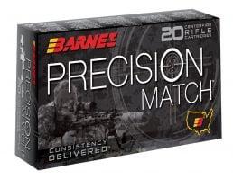Barnes Bullets Precision 175 gr Open Tip Match Boat Tail .308 Win Ammo, 20/box - 30818