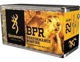 Browning BPR Performance 37 gr Fragmenting .22lr Ammo, 1000 Rounds - B194122050