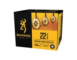 Browning BPR Performance 40 gr Lead Round Nose .22lr Ammo, 1600 Rounds - B194122400