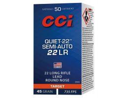 CCI Quiet-22 Semi-Auto 45 gr Soft Point .22lr Ammo, 50/box - 975CC