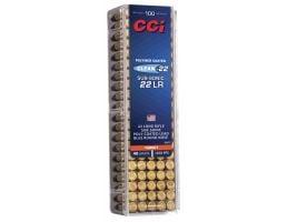 CCI Clean-22 Sub-Sonic 40 gr Blue Lead Round Nose .22lr Ammo, 100/box - 934CC
