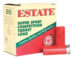 "Estate Cartridge Super Sport 2.75"" 12 Gauge Ammo 8, 25 Rounds - SS12H18"