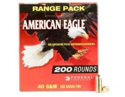 Federal American Eagle 180 gr Full Metal Jacket .40 S&W Ammo, 200/box - AE40R1200