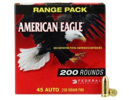 Federal American Eagle 230 gr Full Metal Jacket .45 ACP Ammo, 200/box - AE45A200