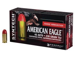 Federal American Eagle Syntech Range 230 gr Total Syntech Jacket Round Nose .45 Auto Ammo, 200/box - AE45SJ1200