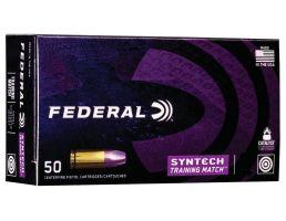 Federal American Eagle Syntech Training Match 230 gr Syntech Jacket Flat Nose .45 ACP Ammo, 50/box - AE45SJ2
