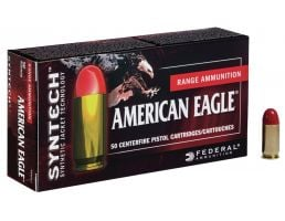 Federal American Eagle Syntech Action Pistol 150 gr Syntech Jacket Flat Nose 9mm Ammo, 50/box - AE9SJAP1