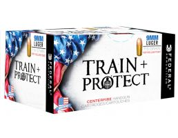 Federal Train + Protect 115gr Versatile Hollow Point 9mm Ammo, 50/box - TP9VHP1