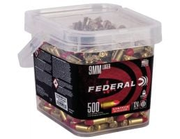 Federal American Eagle Syntech Range 124 gr Syntech Jacket Round Nose 9mm Ammo, 500/box - AE9SJ2B500