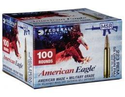 Federal American Eagle 55 gr Full Metal Jacket .223 Rem Ammo, 100/box - AE223BLF