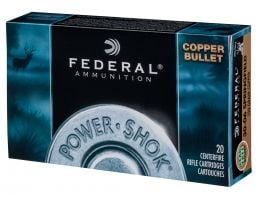 Federal Power-Shok 130 gr Copper Hollow Point .270 Win Ammo, 20/box - 270130LFA