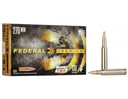 Federal Premium Barnes TSX 130 gr Triple-Shock X .270 Win Ammo, 20/box - P270L