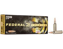 Federal Premium Barnes TSX 130 gr Triple-Shock X .270 WSM Ammo, 20/box - P270WSMD
