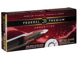 Federal Premium 180 gr Nosler AccuBond .300 RUM Ammo, 20/box - P300RUMA1