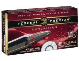 Federal Premium 180 gr Nosler Partition .300 Win Mag Ammo, 20/box - P300WD2