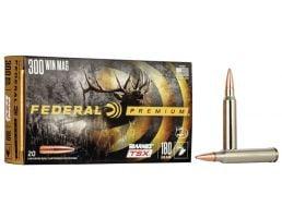 Federal Premium Barnes TSX 180 gr Triple-Shock X .300 Win Mag Ammo, 20/box - P300WP