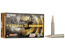 Federal Premium Barnes TSX 165 gr Triple-Shock X .300 Win Mag Ammo, 20/box - P300WR