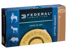 Federal Power-Shok 180 gr Copper Hollow Point .300 Win Mag Ammo, 20/box - A300W180LFA