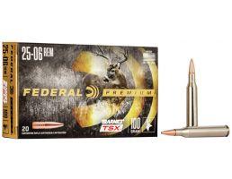 Federal Premium Barnes TSX 100 gr Triple-Shock X .25-06 Rem Ammo, 20/box - P2506H