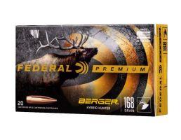 Federal Premium Hunter 168 gr Berger Hybrid .280 Ackley Improved Ammo, 20/box - P280IBCH1